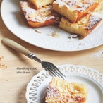 Mandlový koláč s hruškami I