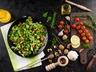 Salát s bresaolou a gorgonzolou