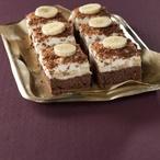 Brownies s banány a kokosovou pěnou