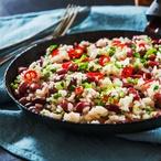 Rýžový salát s fazolemi