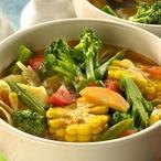 Zeleninový hrnec s těstovinami