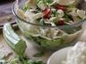 Zeleninový salát s tortillou a sýrem