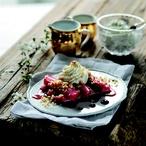 Rebarbora s mandlovým krokantem