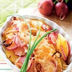 Zapečené ředkvičkové brambory