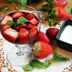 Jahody s červeným vínem
