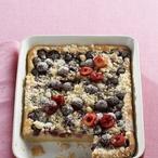 Bramborový koláč s třešněmi
