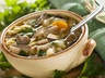 Bramborová polévka s houbami šitaké
