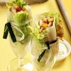 Dietní salátové rolky
