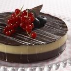 Dvoubarevný čokoládový dort
