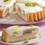 Piškotový koláč s tvarohovým krémem
