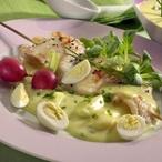 Vajíčková omáčka s grilovanou rybou