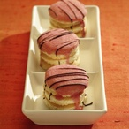 Piškotové dortíky s pomerančovým krémem
