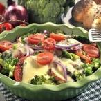 Brokolice zapečená s rajčaty a mozzarellou