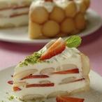 Jahodový smetanový dezert