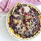 Bramborový koláč se žloutkovým krémem
