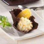 Čokoládové lodičky s banánovou pěnou