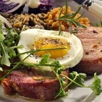 Uzené steaky s vejci