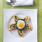 """Omelety se """"špenátem"""" z medvědího česneku"""