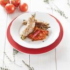 Vepřové závitky s lilkem a rajčatovým čatní