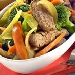 Hovězí maso s brokolicí a mrkví