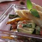 Pangasius na grilu s pečenou zeleninou