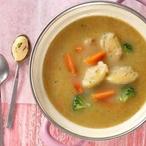 Krémová zeleninová polévka s cibulovými nočky