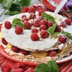 Bezé dort s vanilkovým krémem