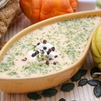 Dýňová polévka s koprovými semínky