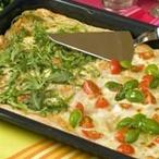 Barevná pizza z listového těsta