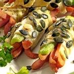 Párky a zelenina v těstíčku