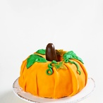 Dýňový halloweenský dort