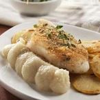 Pečené rybí filátko s petrželovou kaší