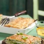 Lasagne zbramborového těsta a kapusty