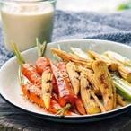 Grilovaná zelenina s hummusem z bílých fazolí