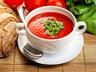 Polévka z rajčat a červené čočky