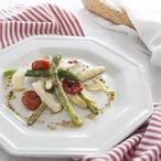Restovaný chřest s parmazánem a rajčátky