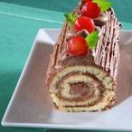 Roláda s čokoládovým tvarohem