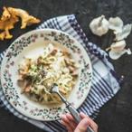 Těstoviny s houbovou omáčkou