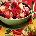 Horký salát s řepným zelím
