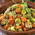 Tažin s masem a zeleninou