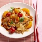 Pikantní vepřové nudličky s ovocem