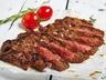 Flan steak s omáčkou se zeleným pepřem
