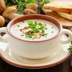 Bramborová smetanová polévka s bylinkami