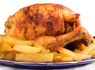 Kuře - pečené pěkně dozlatova