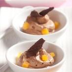 Čokoládová pěna s meruňkovým želé