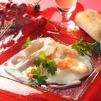 Krevety v sýrové omáčce