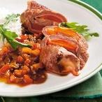 Roštěnky plněné paprikou a slaninou