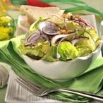 Listový salát s čekankou a červenou cibulí