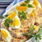 Ryba pečená s celerem a křenem