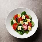 Špenát s rajčátky